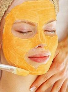 "Pumpkin Enzyme Peel with 15% Glycolic Acid Facial Face Mask PLUS 7.75"" Fan Brush"