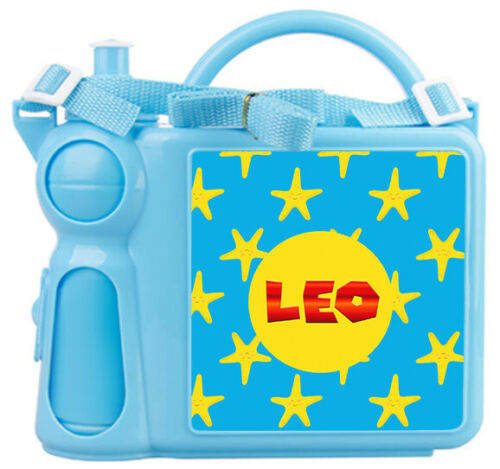 Bottle Any Name Star Design Childrens Boys School Personalised Kids Lunch Box