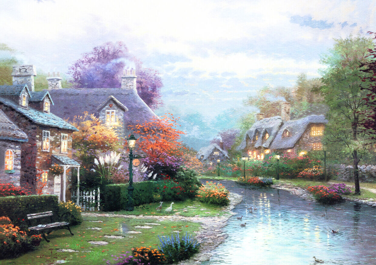 3D Riverside comfortable house Wall Paper Wall Print Decal Wall DecoAJ WALLPAPER