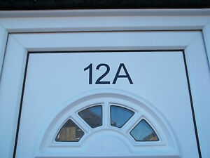 Numero di porta Adesivi-Decalcomanie Vinile PVC finestra Bin numeri civici Cestino Wheelie  </span>