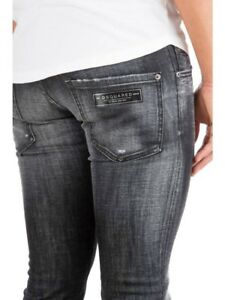 5edeaba370b1a Image is loading 65-OFF-DSQUARED2-Black-Regular-Clement-Jeans-W34-