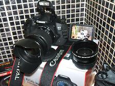 Canon EOS 700D / i 18.0MP Digital SLR Camera - Black with  THREE LENSES