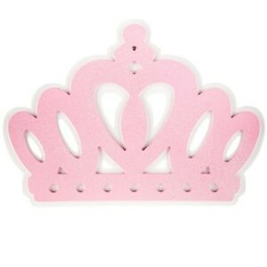 Image Is Loading Pink Princess Crown Wood Wall Decor Over The
