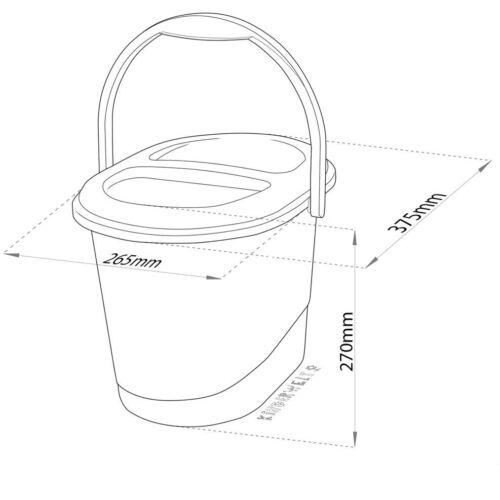 Disney Minni Maus 4er Set Kindertopf Windeleimer WC Aufsatz Hocker