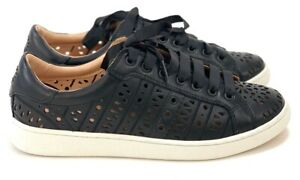 de3745d99256 UGG Women s Black Milo Perforated Soft Leather Sneakers Lace-Up ...