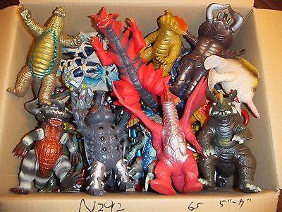 "WHOLESALE LOT 65 Ultraman Monster Kaiju 5 - 7"" Figures Official Japan N292"