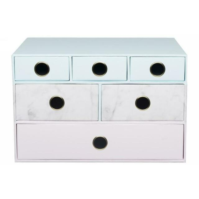 WHSmith Multi Drawer Storage Unit With Moderno Woman And Metal Pull Handle
