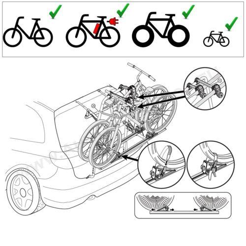 PEUGEOT 208 Bj ab 2015 Fahrradträger Heckklappe für 2 Fahrräder Heckträg
