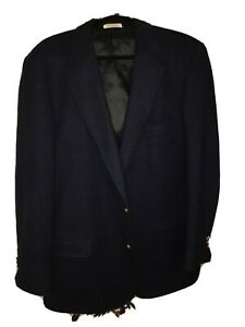 lightly-used-Orvis-navy-blue-Harris-Tweed-Blazer-46-Long-fully-lined