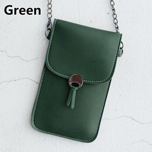 Women HOT Closure PU Leather Touch Screen Crossbody Bag Mobile Phone Bag