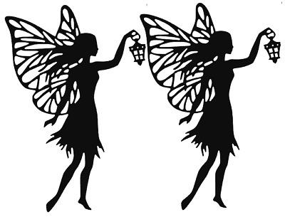 Pack Of 8 Silhouette Cardboard Die Cut fairies
