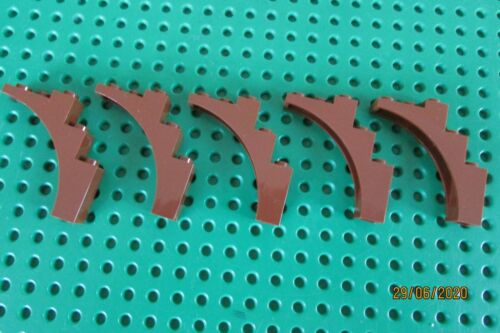 LEGO ARCH 1x5x4 Part 2339  Reddish Brown x 5  Lego Tree Branch  Cont Bow