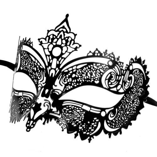 Banane bleue grand masque de carnaval en métal noir-ROBE DE FANTAISIE boule de mascarade masques