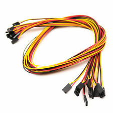 10pcs 3pin 26awg Female To Female 70cm 254mm Dupont Jumper Wire Cable Connector