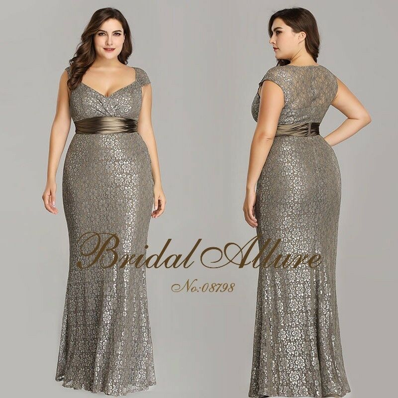Plus Size Evening Dress at Dress Lady | Bridal Allure
