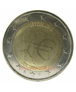 Pièce 2 Euros Commémo. LUXEMBOURG 2009 - 10 ans EMU Neuve UNC