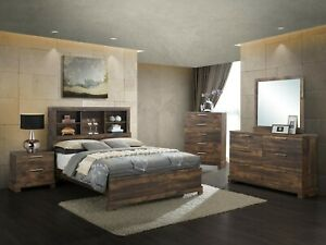 Image Is Loading The Room Style Contemporary Bedroom Set With Bookcase