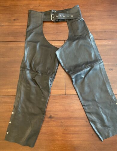 Men's Large Leather Biker Clothing Set Jacket Pant