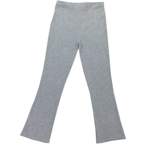 NUOVO Donna Boot Cut zampa stretch a costine Pantaloni Vita Elasticizzata Taglia
