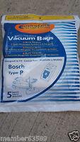 Vacuum Cleaner Bag Bags Type P Fit Bosch Bz52afp2u Bbz52afp1u Bo-bbz52afp2u
