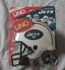 35dcf41e Details about Special Edition 2006 New York Jets UNO Card Game with Helmet,  by Sabata Toys