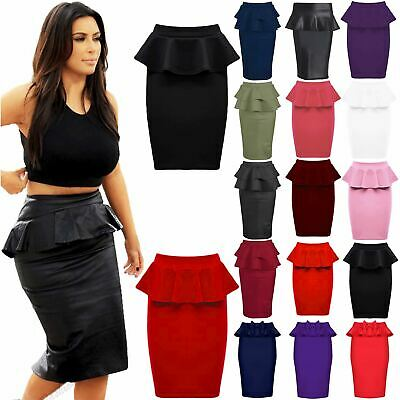Womens Plus Size Pencil Dress Floral Cocktail Midi Skirt Bodycon Knotted Dresses