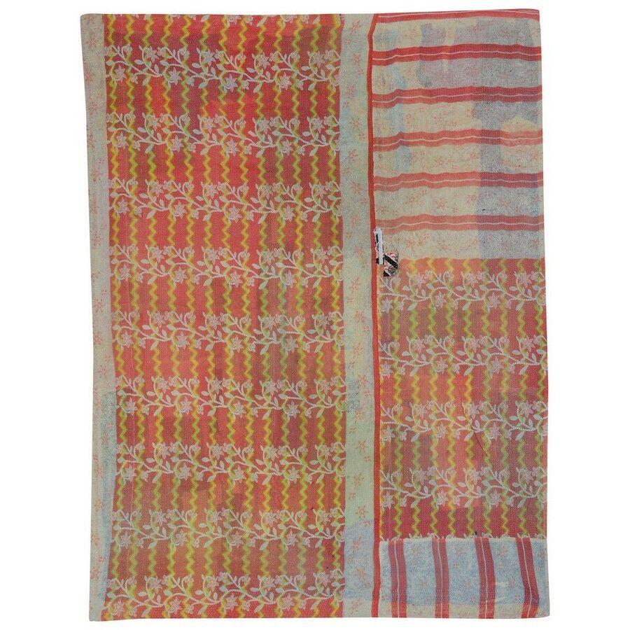 Indian Top Quality Vintage Kantha Quilts Reversible Gudri Throw