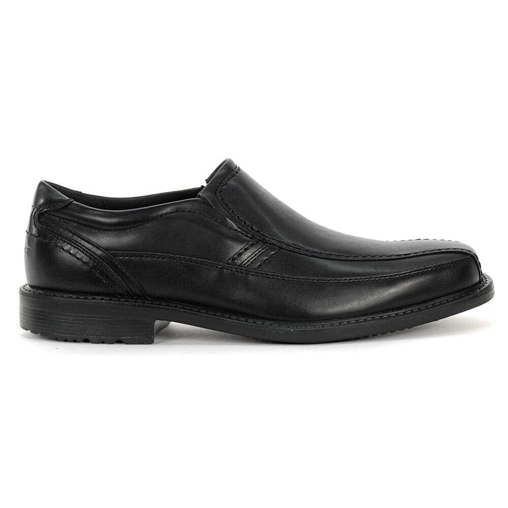 Rockport Men's Style Crew Bike Slip-On Loafer Black shoes A13720 NEW