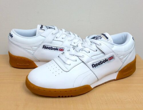 MENS REEBOK CLASSIC WORKOUT LO White//Gum  63978  ATHLETIC