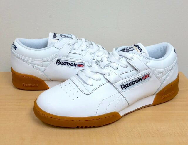 fd6265eeace1d Mens Reebok Workout Low White Gum Brown 63978 US 9 for sale online ...