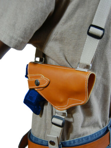 NEW Barsony Tan Leather Shoulder Holster Dbl Mag Pouch S/&W M/&P Shield w// LASER