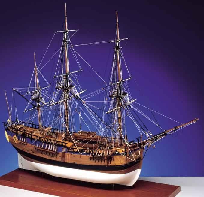Caldercraft HM Bark Endeavour 1768 Wooden Kit 1 64 Scale - Cpt. James Cook