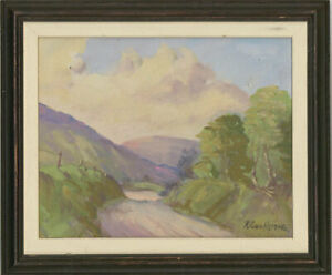 R-Cochrane-Signed-amp-Framed-Mid-20th-Century-Oil-Highland-Lane