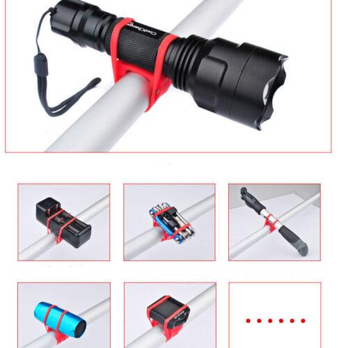5X Bike Bicycle Flashlight Torch Silicone Universal Handle Holder Mount US Stock