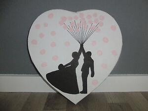 herz leinwand hochzeit fingerabdruck g stebuch wedding tree hochzeitsspiel ebay. Black Bedroom Furniture Sets. Home Design Ideas
