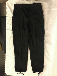 NWOT-039-s-3rd-Party-Military-Style-BDU-Black-Color-Cargo-Pants-X-Large-Long