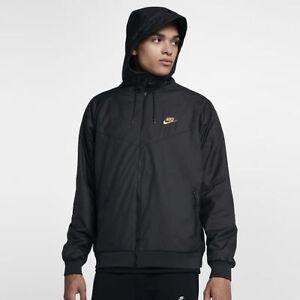 Image is loading Nike-Sportswear-Windrunner-Winterized-QS-Jacket-Black-Gold- c79487cc6