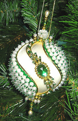 beaded satin christmas ornament kit neon