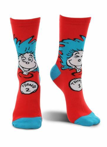 Thing 1 2 Socks Dr Seuss Cat Hat Fancy Dress Halloween Adult Costume Accessory