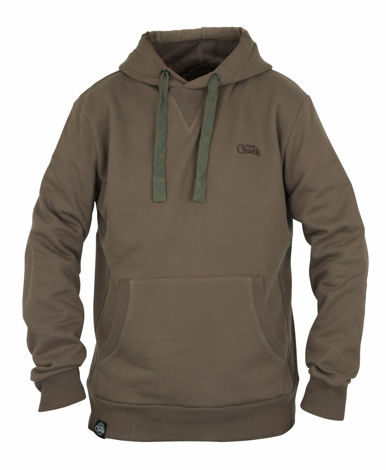 Brand New Fox Grey Khaki Ribbed Hoody Hoodie - All Sizes Available