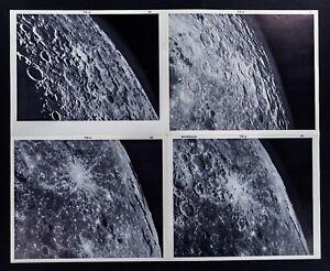 1960-Photographic-Lunar-Atlas-Moon-4-Photo-Set-Field-Byrgius-F6-Surface