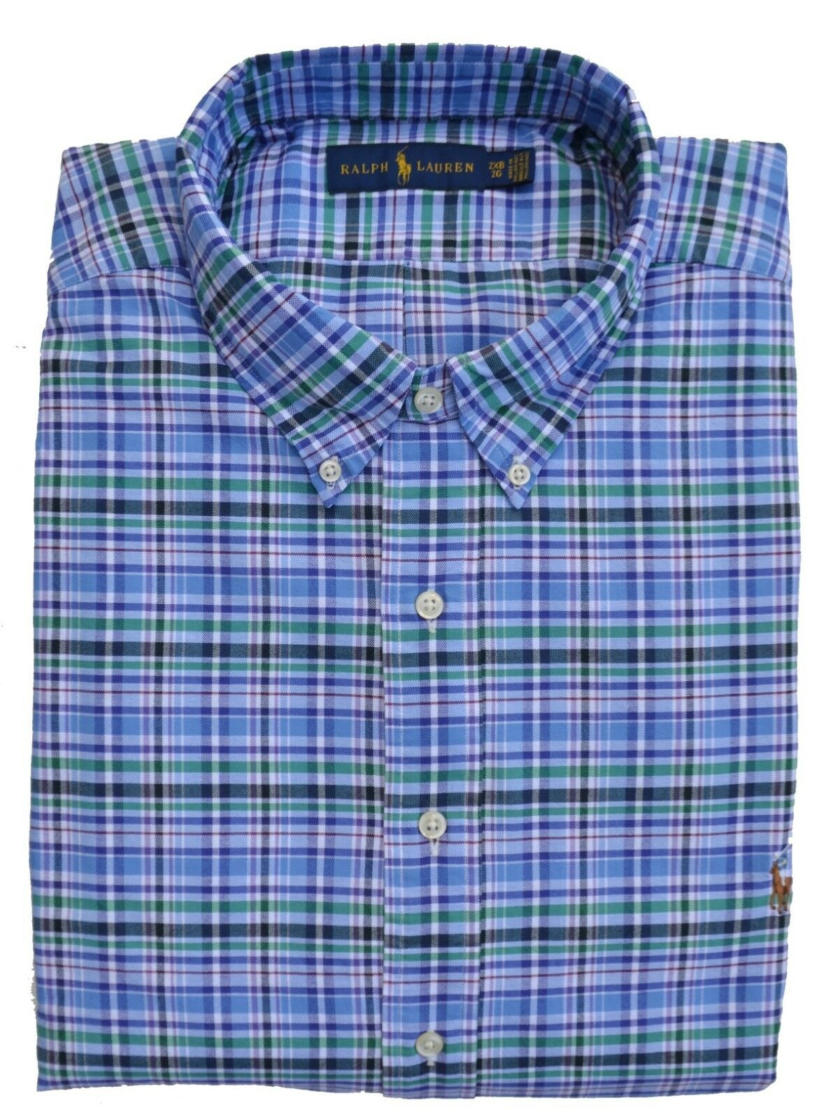 RALPH LAUREN BIG & TALL - HEMD BUTTON DOWN - blue kariert - 2XB 3XB 5XB - NEU
