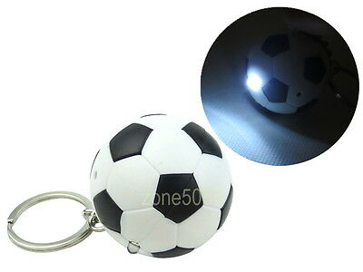 Soccer Ball Football Key Ring Chain with LED Light and Sound