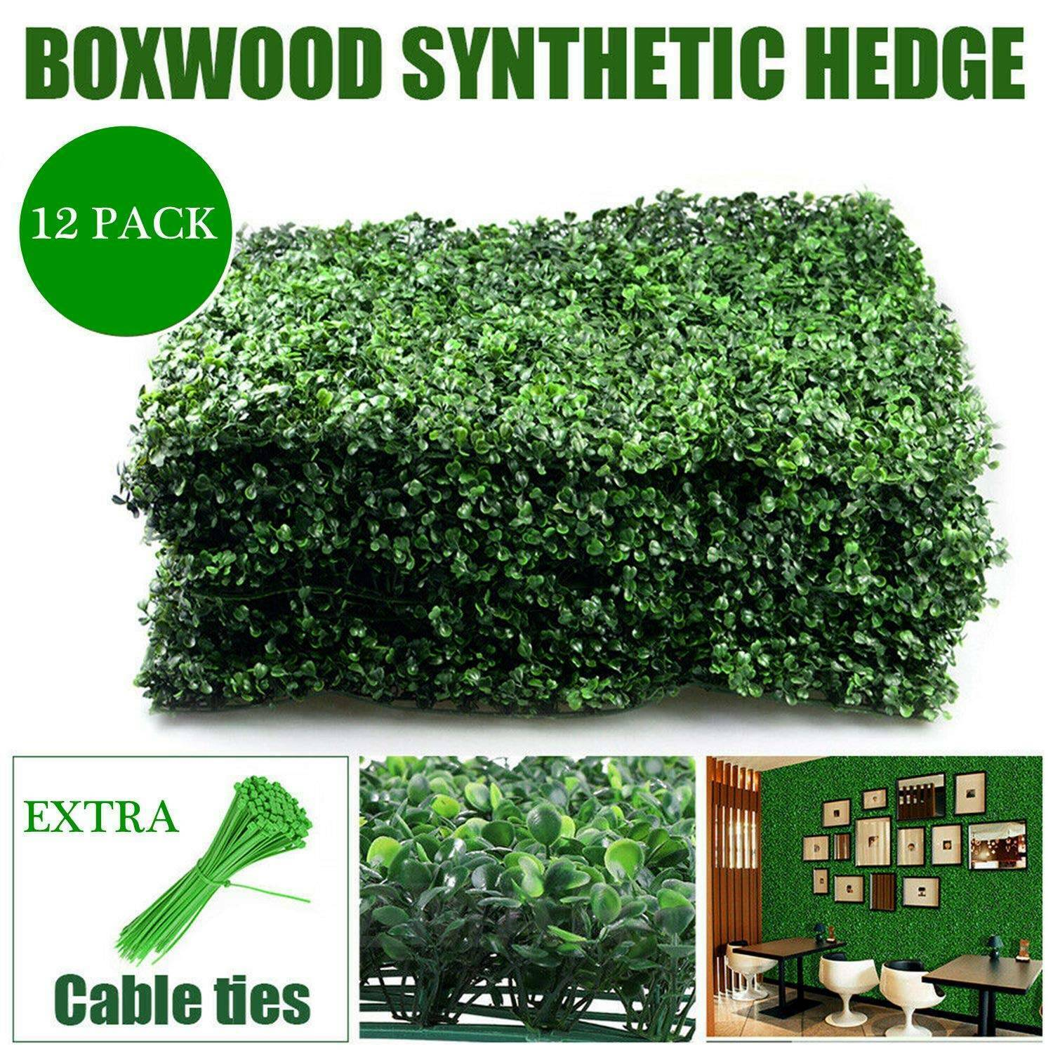 Dearhouse 8 Pack Artificial Boxwood Panels Topiary Hedge Plants Artificial Fence For Sale Online Ebay