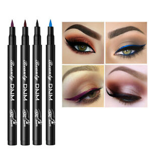 Beauty Essentials Useful Dnm New Matte Colorful Eye Liner Pen Smooth Easy To Wear Long Lasting White Blue Liquid Eyeliner Waterproof Eyes Cosmetics