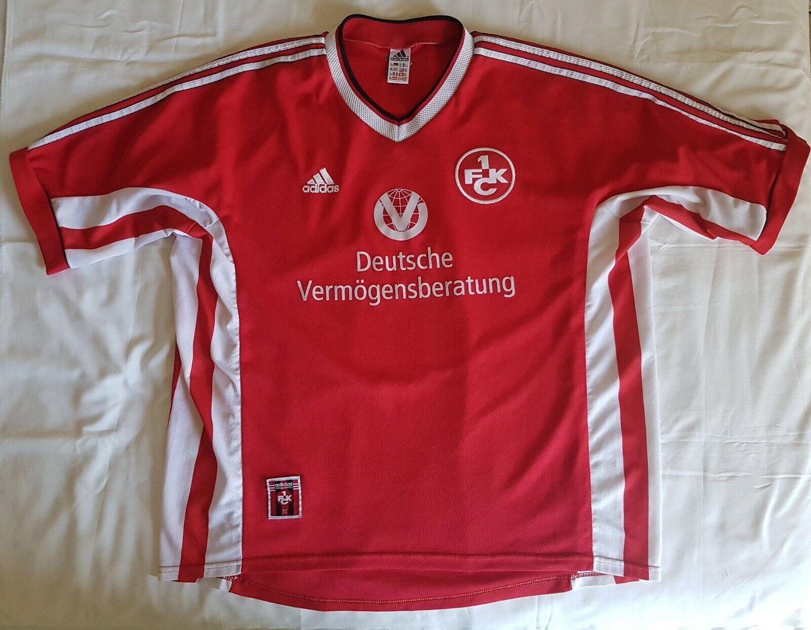 1. FC Kaiserslautern 1998  1999 football shirt soccer jersey, Adidas, Dimensione 2XL