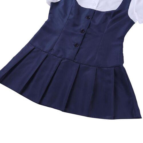 Naughty Women School Girl Uniform Student Lingerie Dress Halloween Plus Costume