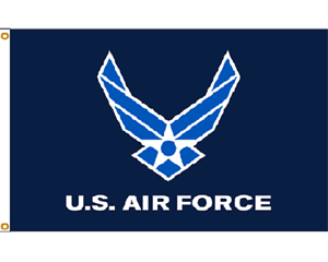 Airforce Air Force Light Blue Wings Knitted Nylon Flag 3/'x5/' Grommets 3x5 U.S