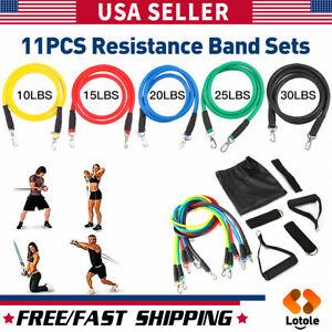 Hogyme 11 Pcs Resistance Bands Yoga Pilates Abs Exercise Fitness