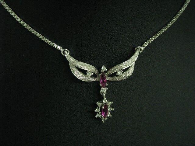 835 silver Collier mit Glasstein Besatz   Echtsilver   41,5cm   11,2g
